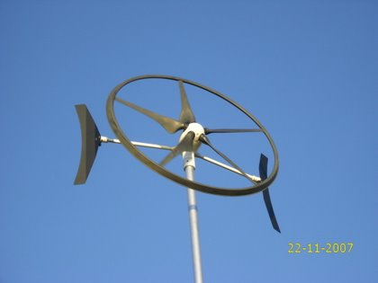 ontwikkeling kleine windturbine