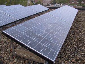Los paneles solares montados en mi azotea