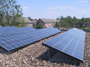 Sombra de paneles solares