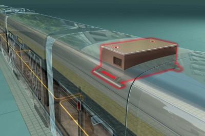 Het MITRAC systeem bovenop de tram