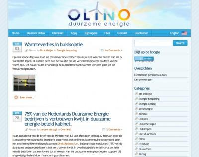 De nieuwe look van OliNo.org