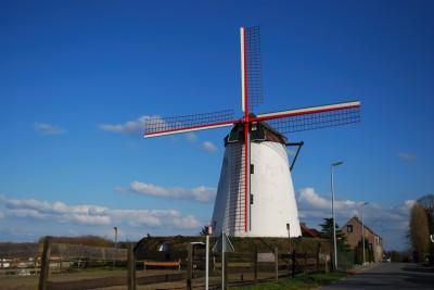 Over windmolens en technische levensduur gesproken: hier een oude windmolen in Hekelgem, België