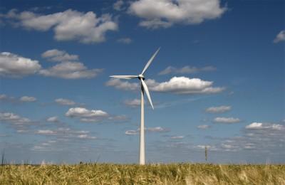 Mooi aangezicht van een windturbine in landelijke setting, hier in Luxemburg