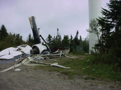 windturbine catastrofe in Searsburg (Vermont, USA)