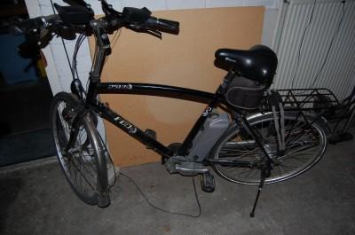 Met de elektrische fiets kom je met 0,13 KWh easy going 30 km ver.