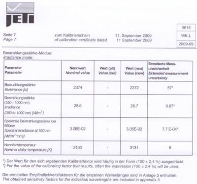 specbos1211_werkcalibrierung_illuminance