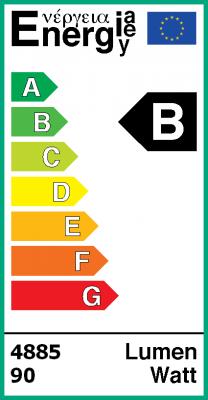 Energielabel Fledlight© - ledpaneel 60x60 FL66-NW-D100 met polycarbonaatplaat