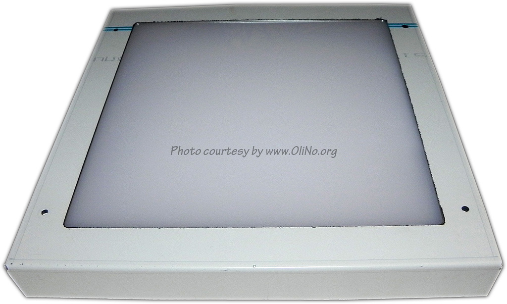 Fledlight© - ledpaneel FL20x20 met opalen plaat op hoogvermogensstand