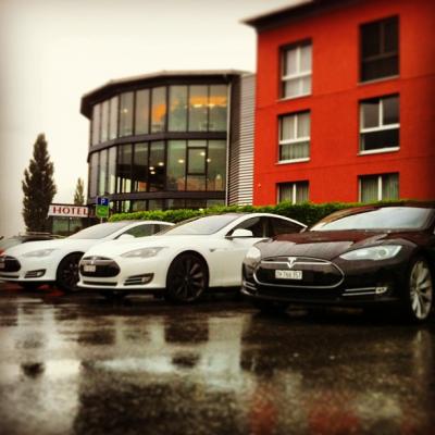 Tesla bijeenkomst Swiss Heidi Hotel