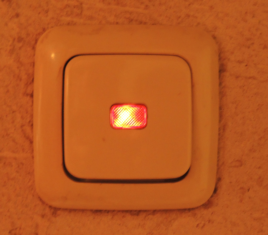 Gira schakelaar met controlelampje
