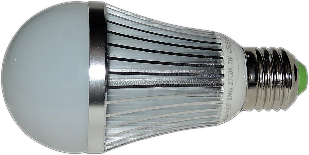 TopLEDshop - LEDlamp E27 dimbaar 7x1W WW CreeXP-E