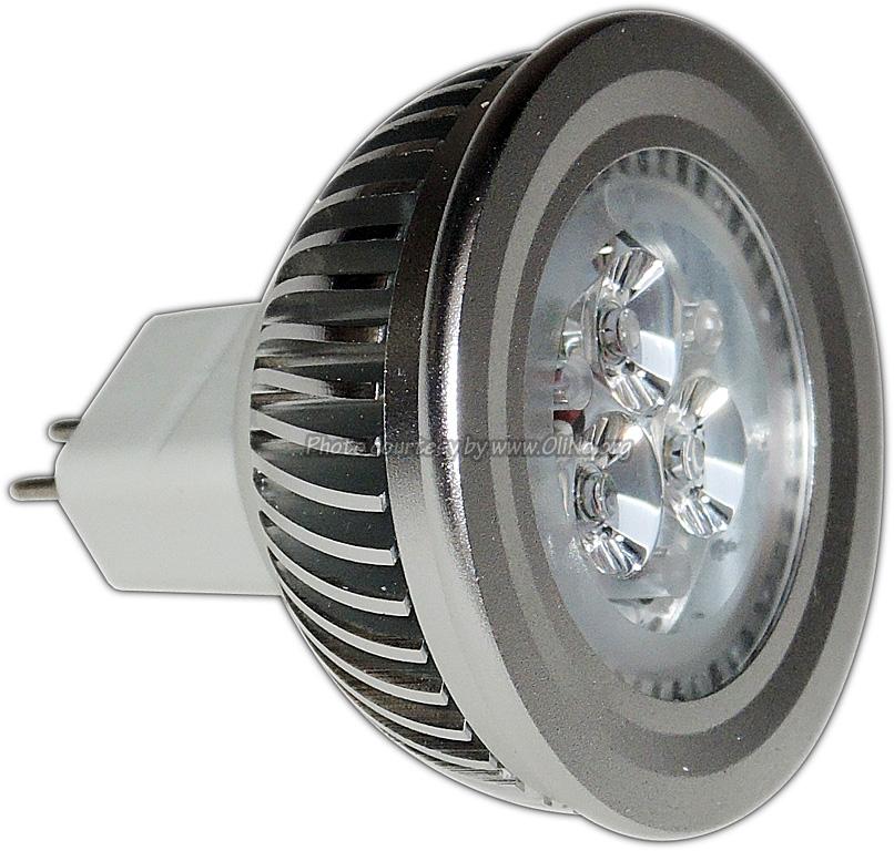 TopLEDshop - led spotlamp MR16 3.5W 12 AC/DC 2700K dimbaar