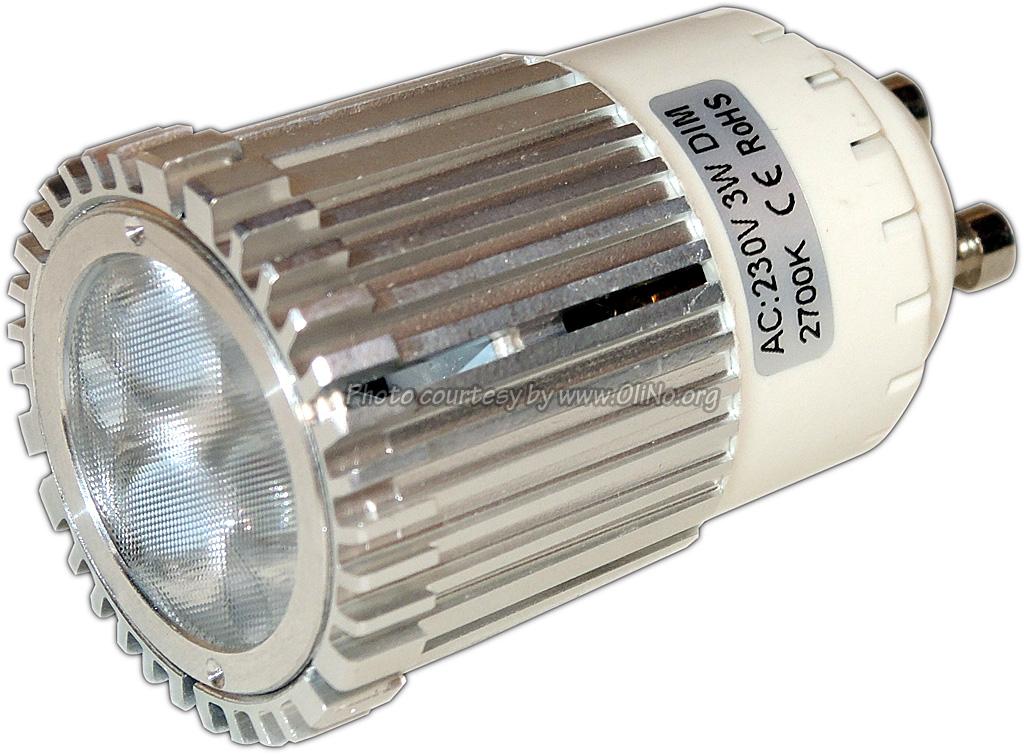 TopLEDshop - GU10 3x1W 2700K dimbaar dia35mm