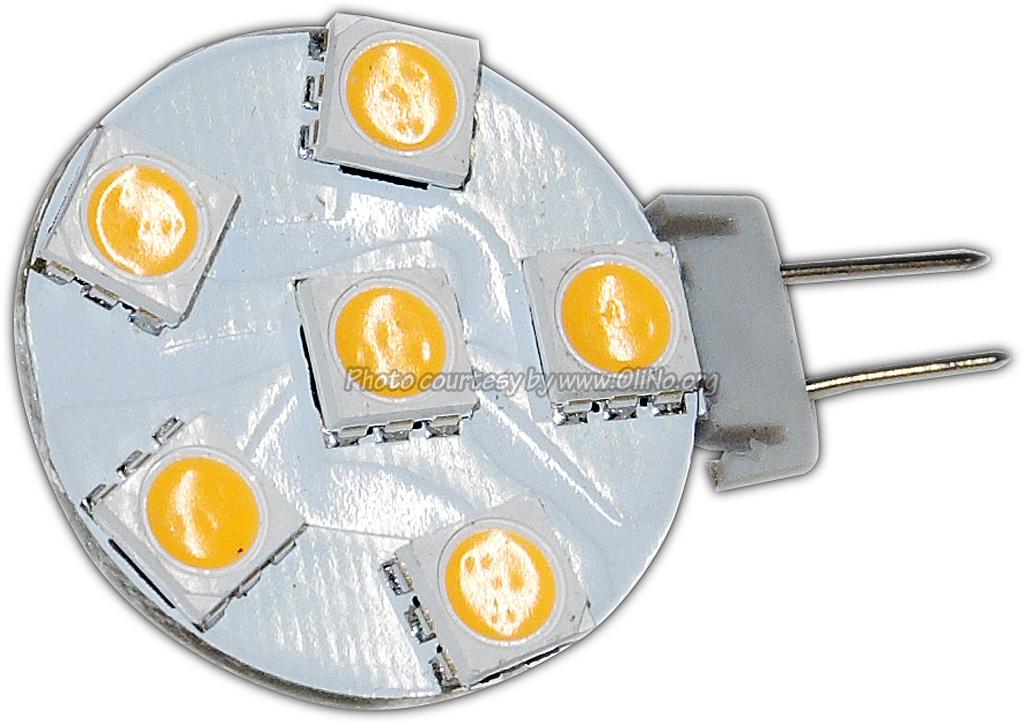 TopLEDshop - Led light G4, 1,2W, 6 x 5050SMD, disc