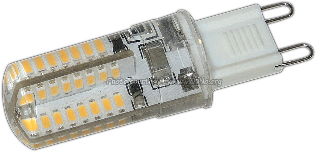 TopLEDshop - LED light G9, 230V, 2W, silicone