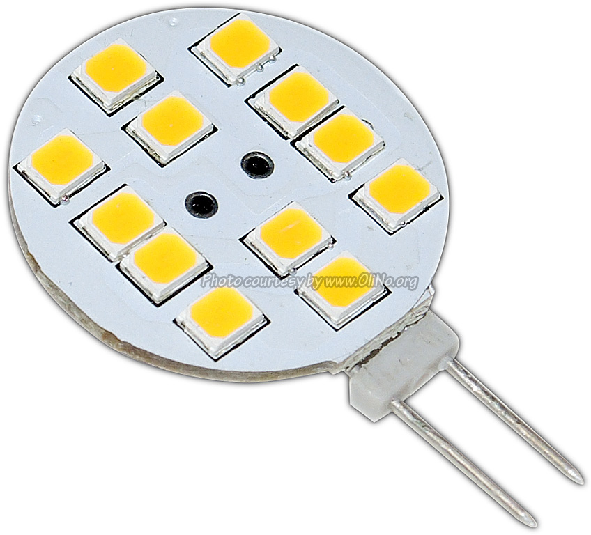 TopLEDshop - G4, 1,8W, 12 2835 SMD, schijfje