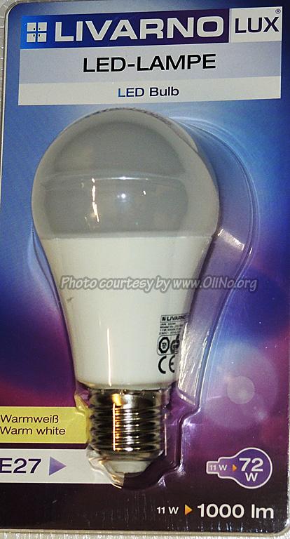 – 11WOliNo LED E27 LIVARNO LIDL bulb K1FlTJc