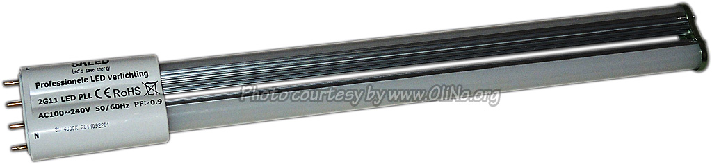 Saled - LED PS-L Basic  2G11 4-pins 8 watt 4000K 360gr met interne driver