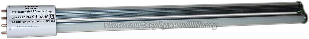 Saled - LED PS-L Basic  2G11 4-pins 12 watt 4000K 360gr met interne driver