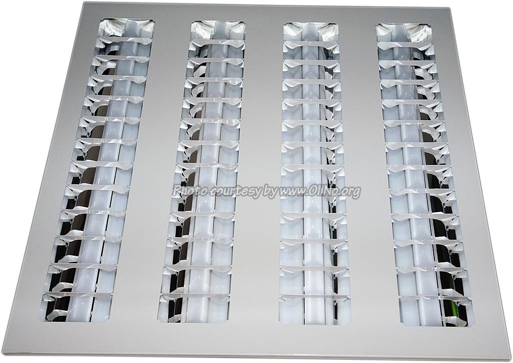 LED Flatlight - LED Paneel Louvre 600x600 4000K 40W Non-Dimmable