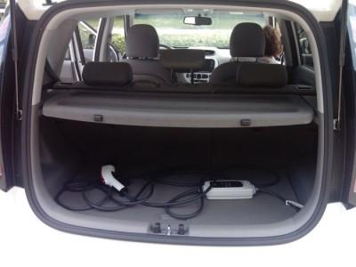 Binnenkant elektrische auto