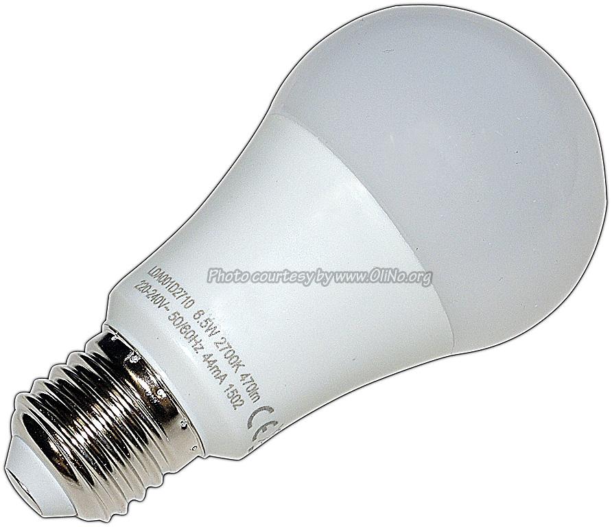Toshiba - E-CORE LED E27 6.5W WW