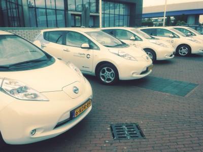 Elektrische auto's van de gemeente capelle a/d ijssel