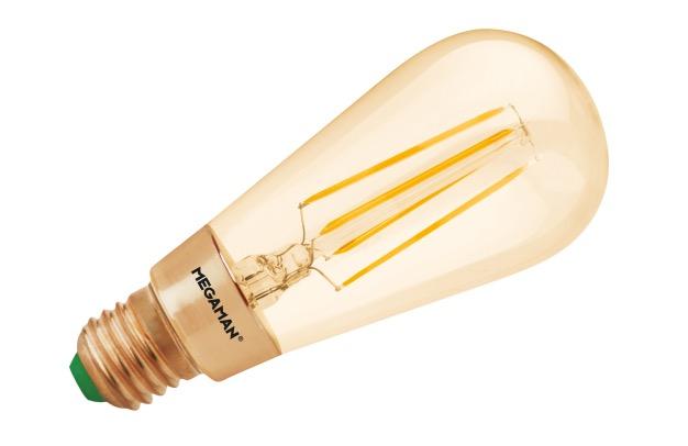 Megaman - Led filament lamp dimmable E27 3W Mellow