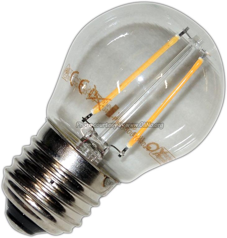 XQ-lite - LED bolvorm E27 2W filament XQ1404