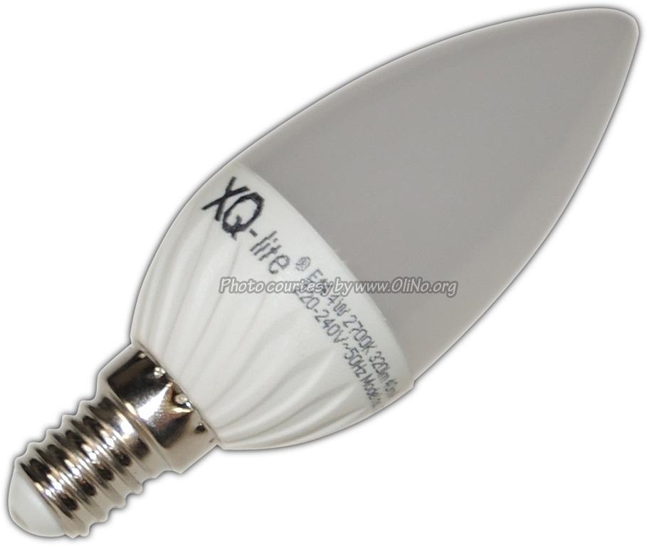 XQ-lite - LED kaars E14 4W warmwit XQ1458