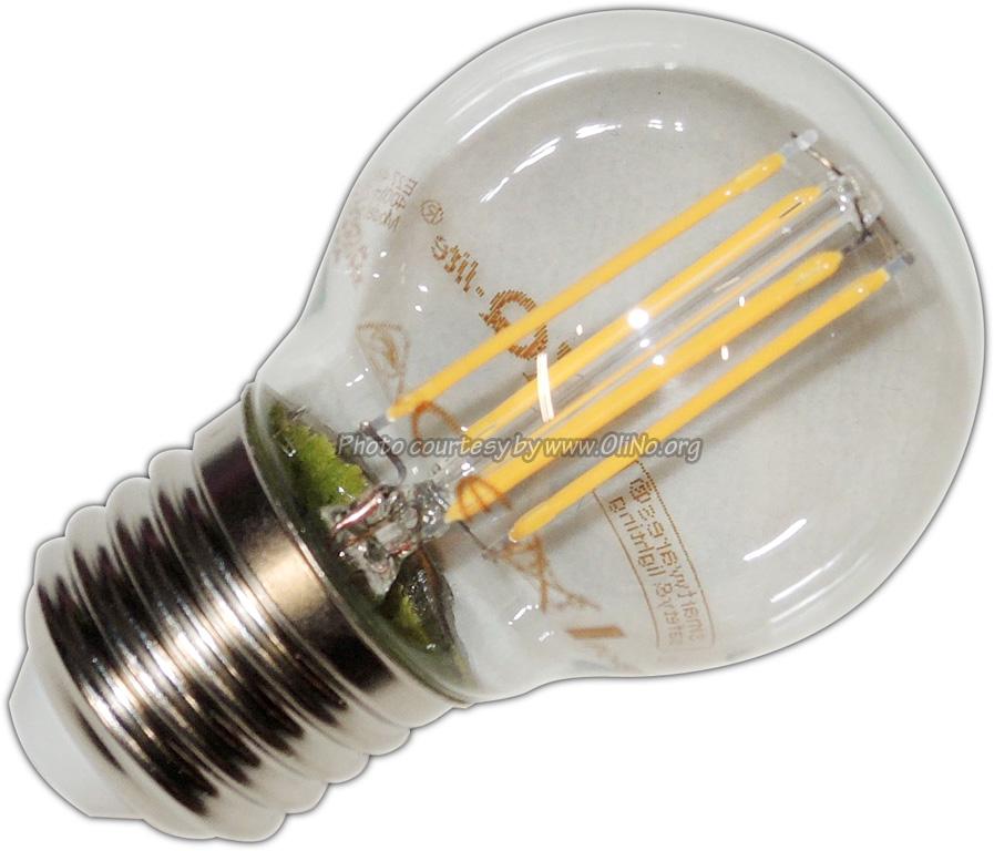 XQ-lite - LED bolvorm E27 4W filament XQ1464