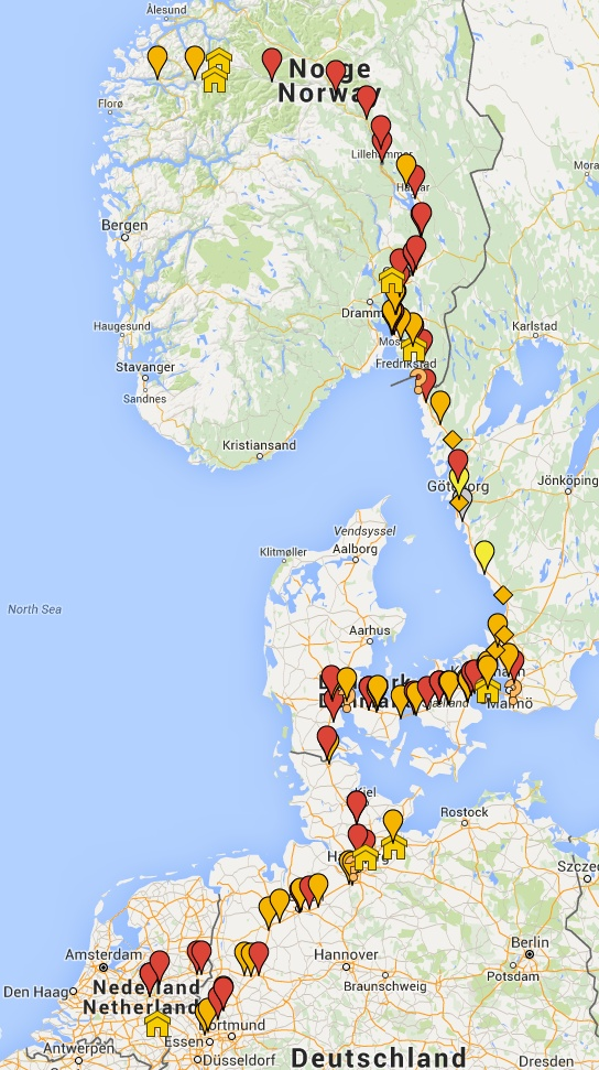On Electric Adventure To Norway OliNo - Norway rummage sales 2015 map