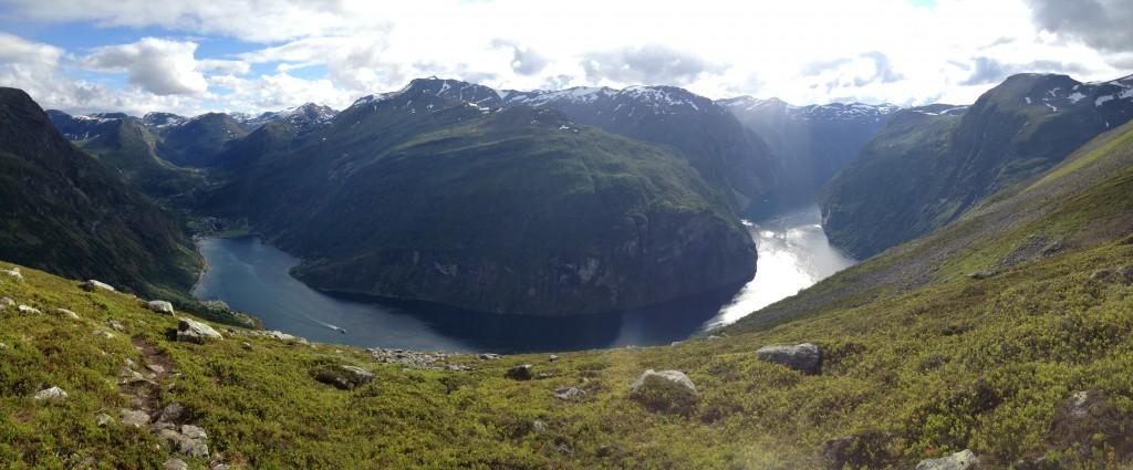 Geiranger fjord panorama
