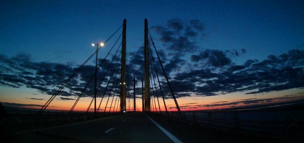 bron broen - avondrood
