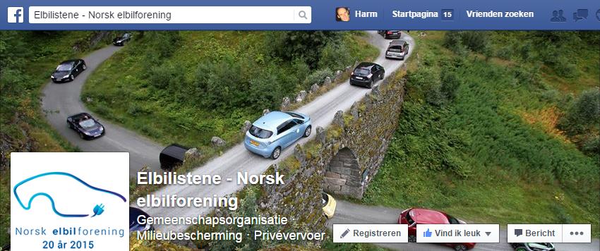 Voorpagina Facebook Norsk elbilforening