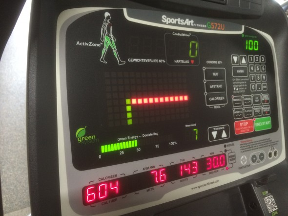 Display fitnessapparaat