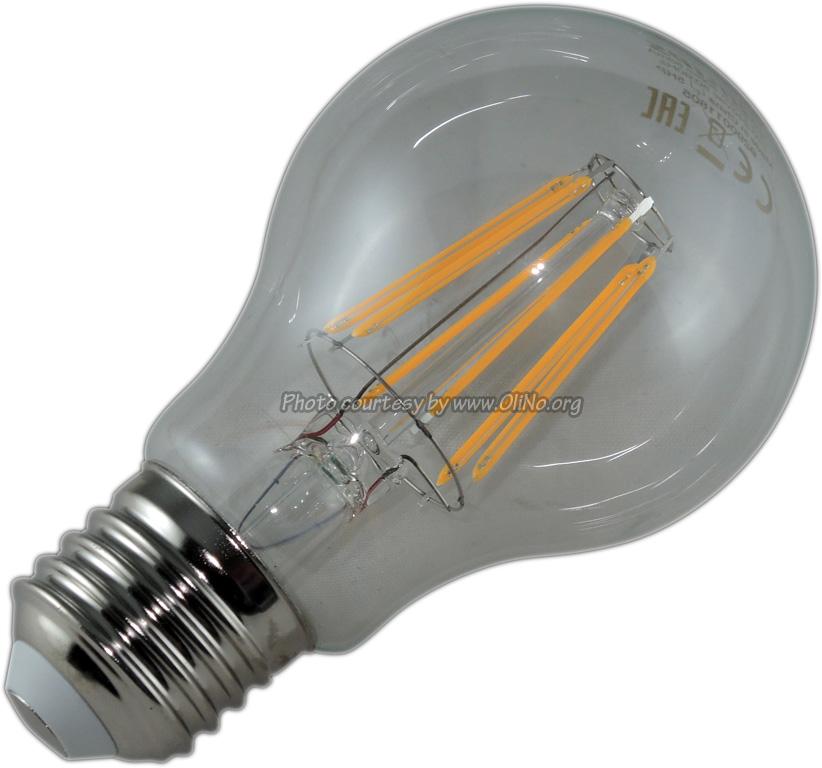 Philips - CLASSIC LEDBULB 7.5-60W E27 WARMWIT HELDER