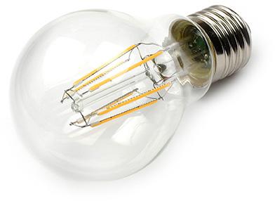 TopLEDshop - LED Lamp 230V, bol, 6W, Filament, Warmwit, E27, helder