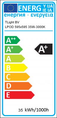 Energy Label TLight BV - LPOD 595x595 35W-3000K