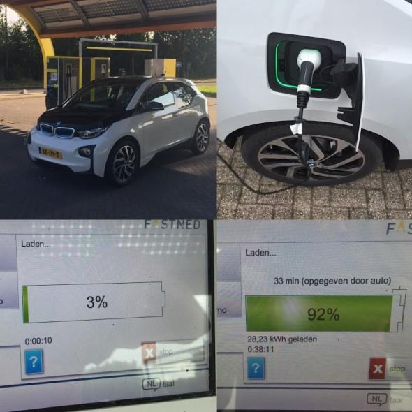 Foto's laden elektrische auto