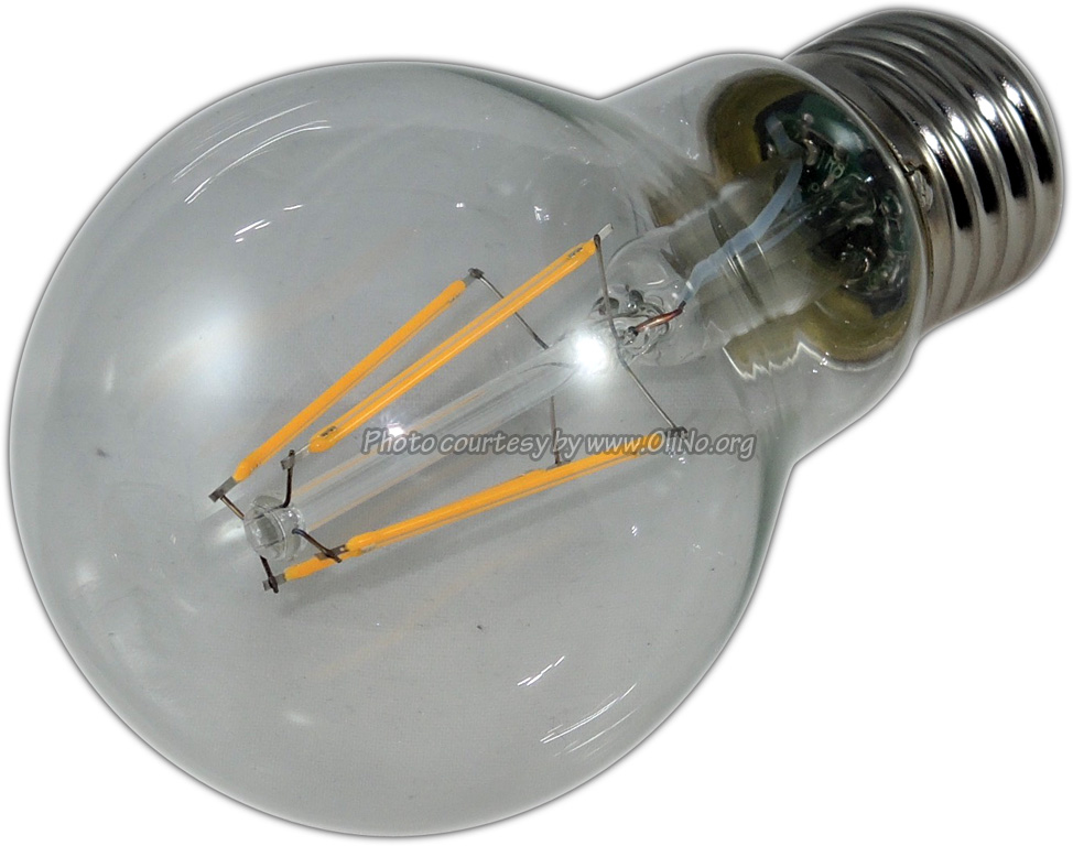 TopLEDshop - LED Lamp 230V bulb 4W Filament warm white E27 clear dimmable