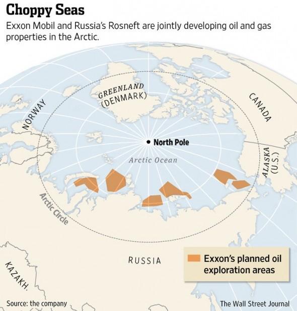Mogelijk te winnen olie uit zeer grote olievelden ten noorden van Rusland.