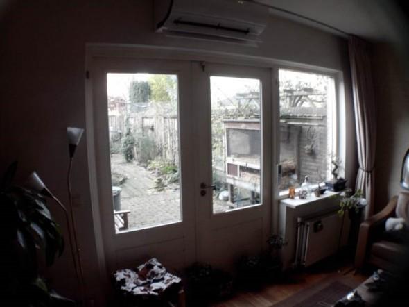 woonkamer met airco verwarming