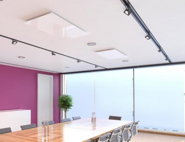 Voor de warmteverdeling is het beter om meerdere kleinere IR panelen te hebben dan 1 groot paneel.