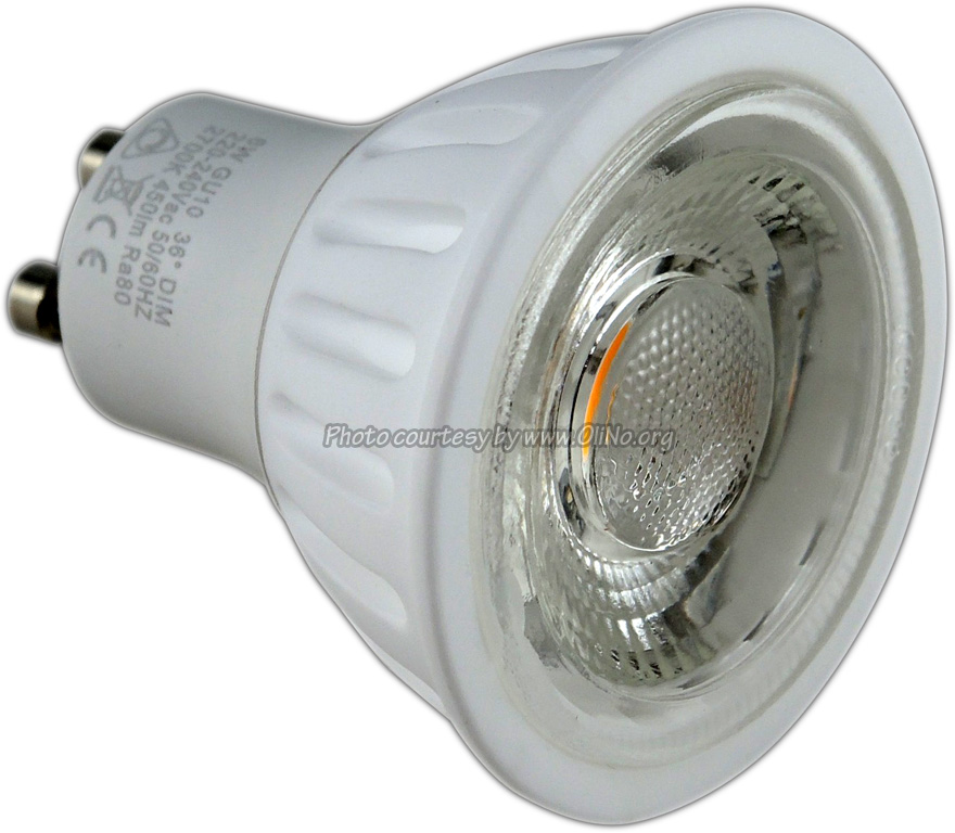 TopLEDshop - LED Lamp 230V 6W warm white GU10 dimmable ceramic