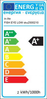 Energy Label in-lite - FISH EYE LOW sku2500210