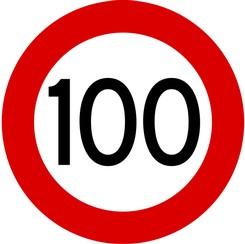 bord 100 Maximum 100 kilometer op alle snelwegen   Transport| OliNo bord 100