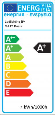 Energielabel Ledlighting BV - GA12 Basis