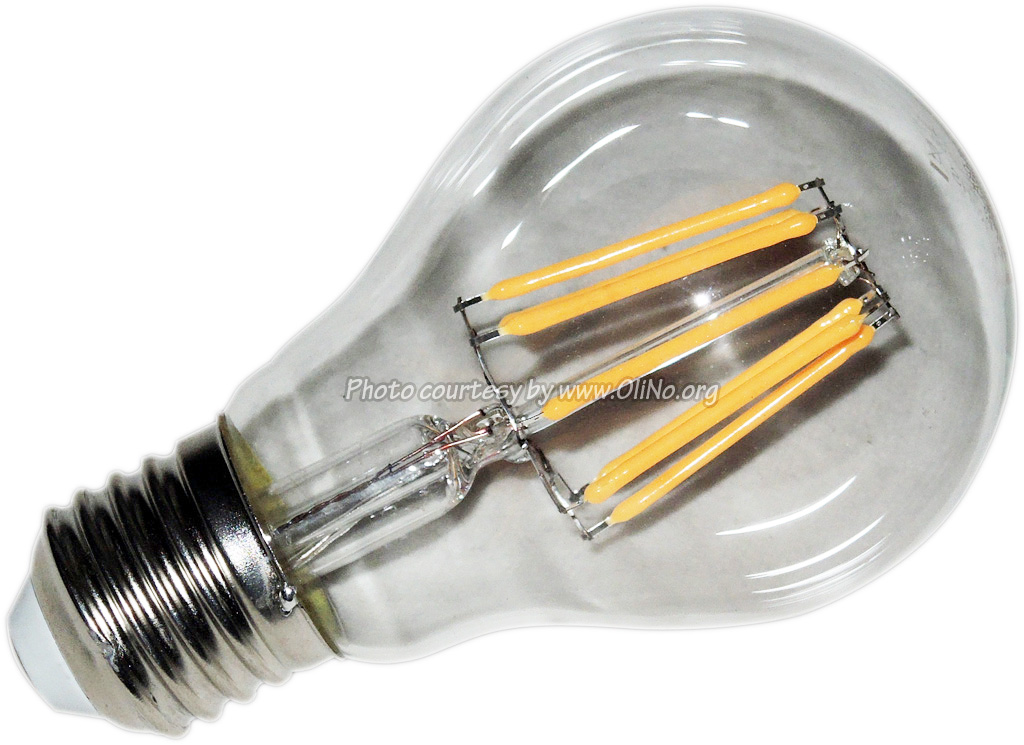TopLEDshop - LED Lamp 230V bulb 6W Filament Warm White E27 Clear Dimmable