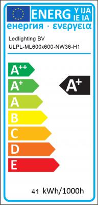 Energy Label Ledlighting BV - ULPL-ML600x600-NW36-H1